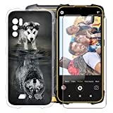 Phone Case for Cubot King Kong 5 Pro (6.09'), with [1 x Tempered Glass Protective Film], KJYF Clear Soft TPU Shell Ultra-Thin [Anti-Scratch] [Anti-Yellow] Case for Cubot King Kong 5 Pro - WMA27