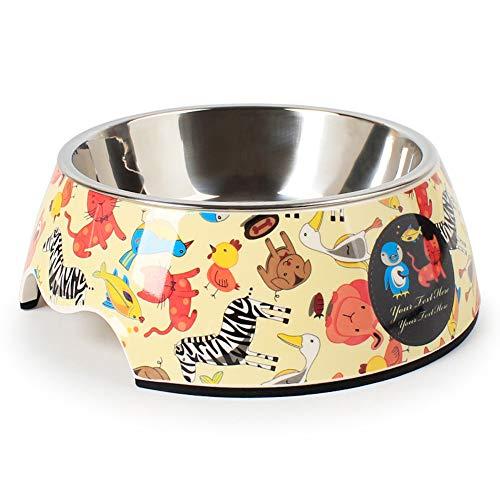 180 ml / 350 ml / 930 ml Abnehmbare Edelstahl-Hundenapfschale, Katzenschüssel Hundenäpfe für Futter- und Wasserhundenäpfe, Haustierbedarf (Tiere, 350ml)