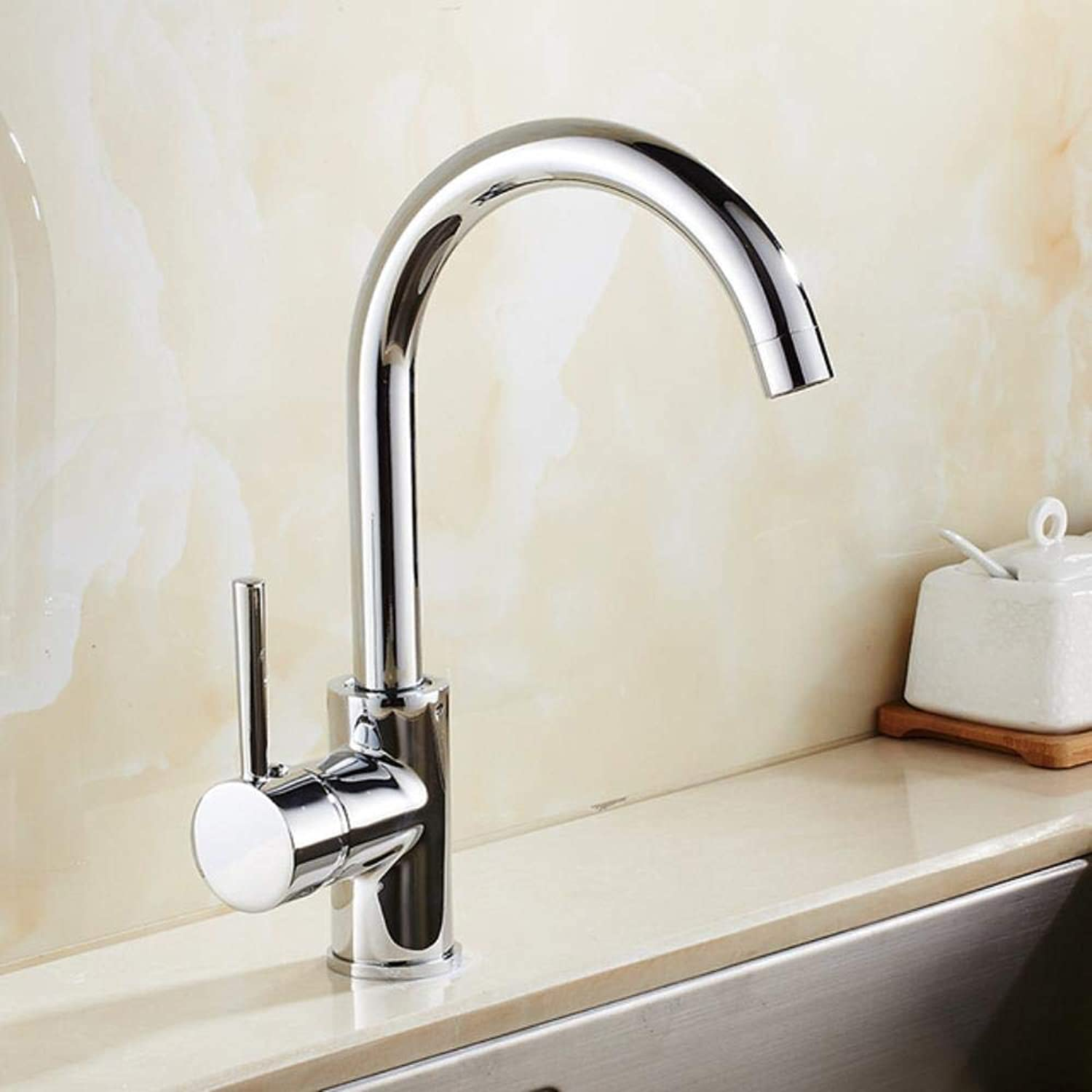 Kai&Guo Four Styles Chrome Brushed Kitchen Mixer Torneria Deck Mounted Black Kitchen Sink Water Faucet 8076 On, Polished