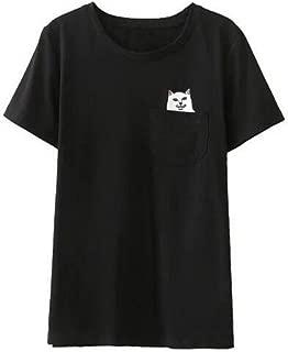 Alien Middle Finger Cat Pocket T Shirt Women Ulzzang Kyliejenner Instagram Tumblr Vegan Unicornio BTS Kpop Tee Top