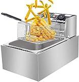 HI-TECH KITCHEN Stainless Steel Commercial DEEP Fat Fryer 6 L Steel Body