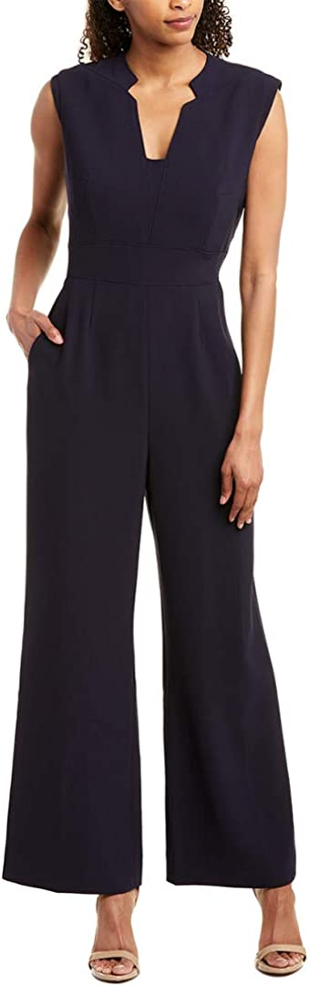 Tahari by ASL Free shipping on posting reviews Crepe V-Neck Jumpsuit w Boston Mall