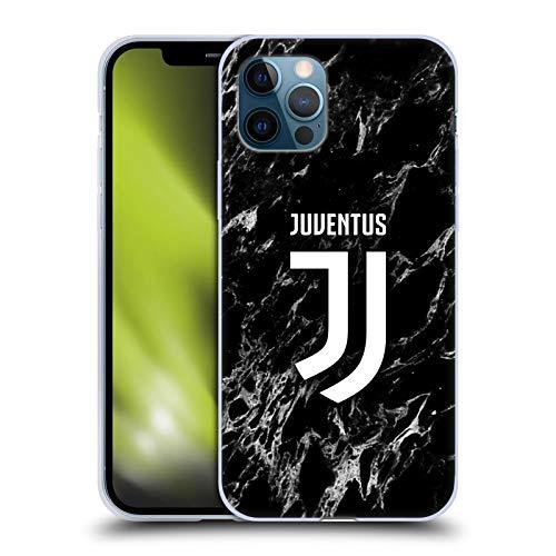 Head Case Designs Offiziell Zugelassen Juventus Football Club Schwarz Marmor Soft Gel Handyhülle Hülle Huelle kompatibel mit Apple iPhone 12 / iPhone 12 Pro