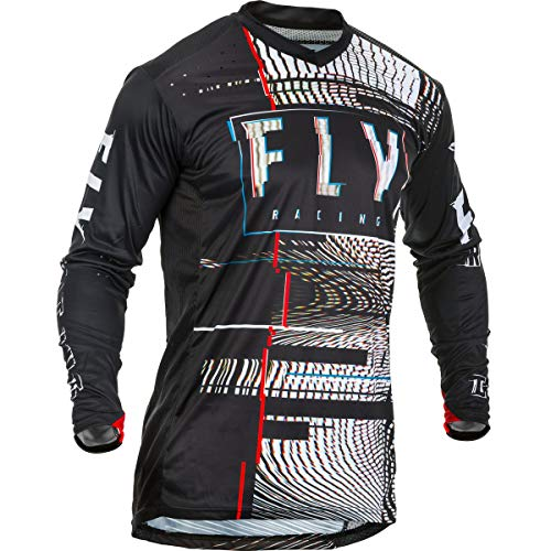 Fly Racing Jersey Lite Glitch Schwarz Gr. XL
