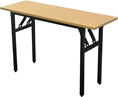 Olpchee Wood Foldable Desk Portable Folding Desk for Meeting Room/Small Space/Home Corner/Outdoor Picnic