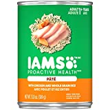 IAMS PROACTIVE HEALTH Adult Soft Wet Dog Paté Food With Chicken and Whole Grain Rice, (12) 13.0 oz. Cans