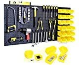 WallPeg Pegboard Kit - Peg Board Panels Locking Peg Hooks Set – Workbench Organizer Tool Storage… Size & Bins Included (24' x 48' - 18 Bins)
