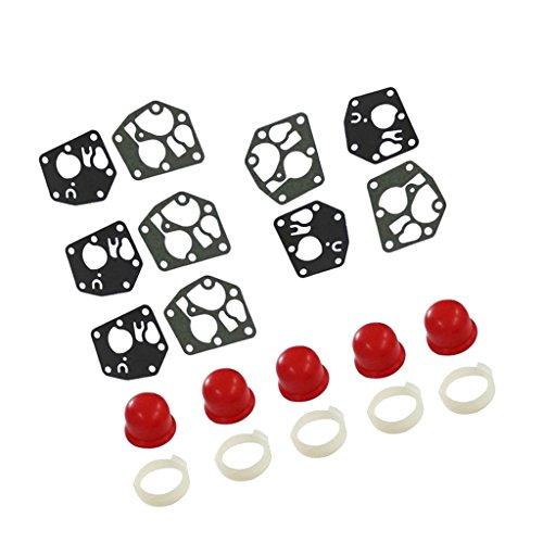 Gazechimp Kit de Tornillos de Diafragma de Carburador + 5x Bombilla de Primario Coche para Briggs & Stratton 694394 4178 5084H 494408
