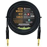 25 Foot - Gotham GAC-1 Ultra Pro - Premium Low-Cap (21 pf/F) Guitar Bass Instrument Cable - w/Neutrik Gold Straight to Straight ¼ inch (6.35mm) TS Connectors - CUSTOM MADE By WORLDS BEST CABLES