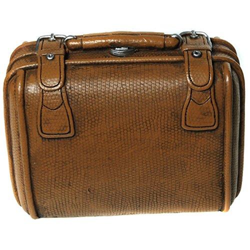 Hucha con forma de maleta con cerradura
