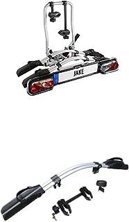 EUFAB Fahrradträger Jake, für E Bikes geeignet + EUFAB Erweiterung 3. Rad Kupplungsträger Jake