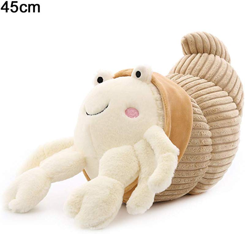 T REASURE Cute Cartoon Animal Plush Doll Hermit Crab Stuffed Plush Toy Soft Stuffed Cotton Animal Education Play Toys Plush Pillow For Kids Adults Home Bedroom Decor