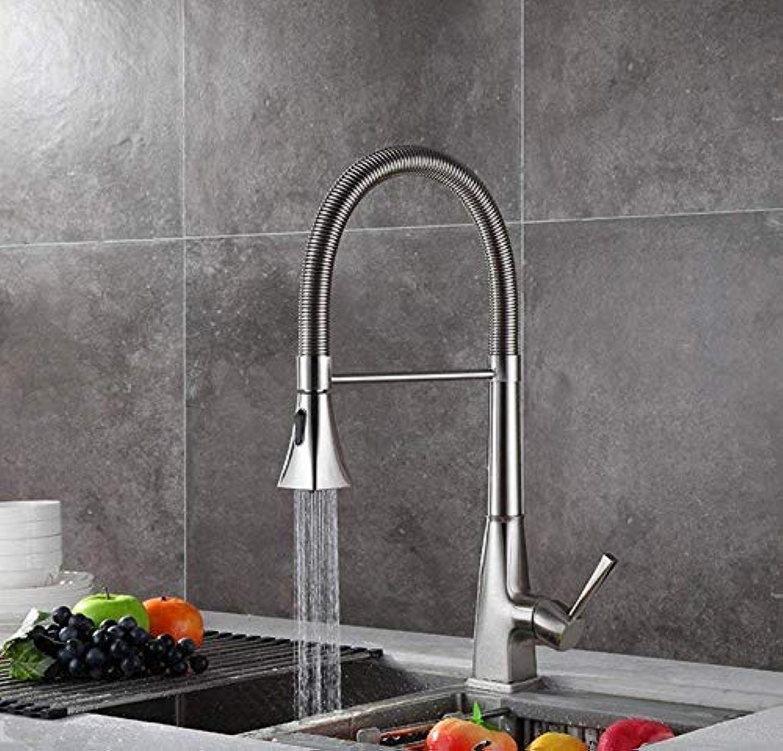 360° Drehbar Wasserhahn Alle Bronze Hei Und Kalt Einzelloch Frühling Ausziehbarer Küchenarmatur Waschbecken Wasserhahn Gemüse, B (Farbe  -, Gre  -)
