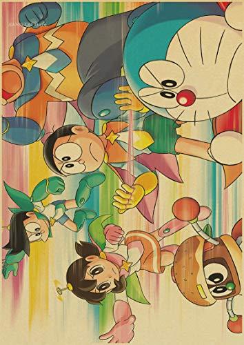 Puzzle de 1000 Piezas para Adultos 50x75cm Anime Doraemon Rompecabezas Juegos Familiares Grande Educativo El Alivio del Estrés Juguete Relajante Juego para Adultos Niños