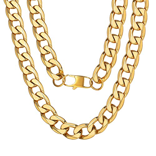 ChainsPro 13MM Gold Chain Jewelry for Rapper Necklace Big Cuban Chains