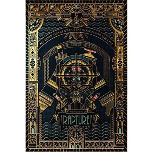 yhnjikl Bioshock Rapture Infinite Hot Video Game Cover Custom Poster Art Silk Light Canvas Home Room Decoración de impresión de Pared 40X60Cm Sin Marco