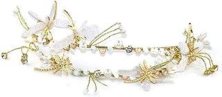 FELICILII Farfalla Iheddo Fibbia a Farfalla Crepe Capo Banda da Sposa da Sposa Copricapo da Sposa Gioielli Accessori