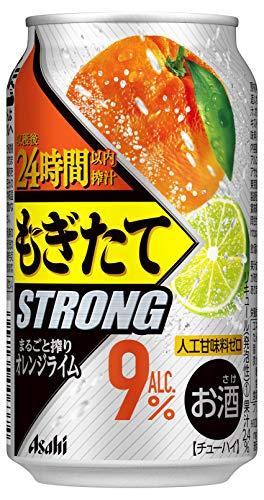 アサヒ もぎたてSTRONG まるごと搾りオレンジライム [ チューハイ 350ml×24本 ]