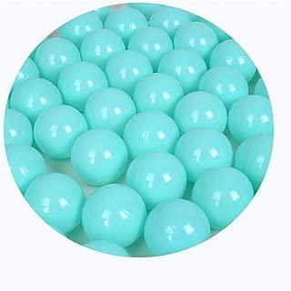 LIUFS-オーシャンボール 子供の厚み付けオーシャンボールウェーブボールカラーボールブルー遊び場玩具フェンスオーシャンボールプールインテリアの装飾 (Color : Green A, Size : 7cm/100)