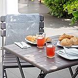 Vanage Beistelltisch in braun eckiger Gartentisch in Holzoptik - 6