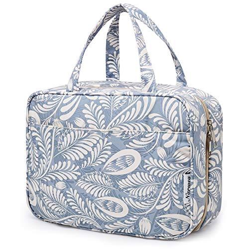 Bolsa de aseo grande para colgar, bolsa de maquillaje de viaje, organizador de cosméticos para mujeres y niñas