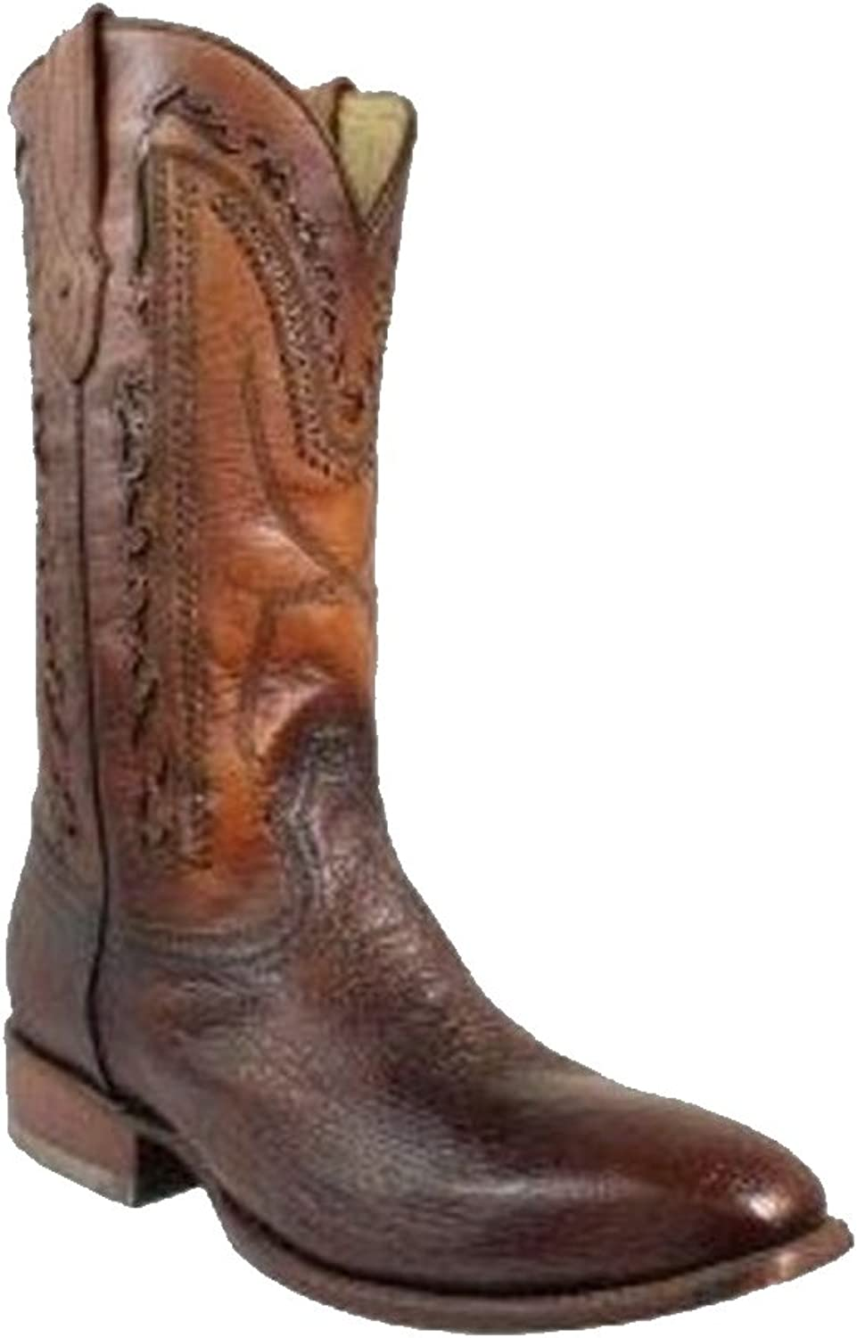 Corral Men's Brown Smooth Ostrich French Toe Western Boot