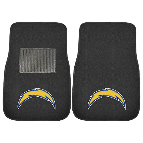 NFL Los Angeles Chargers NFL - Los Angeles Chargers2-pc Embroidered Car Mat Set, Team Color, One Size