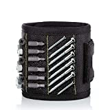 ADDG Bracelet magnétique avec 20 aimants puissants pour vis de Fixation Ongles forets Cadeaux Outils de Gadgets, Cadeau pour Homme, père/père, Mari, Petit ami, Bricoleur, Femmes-Noires