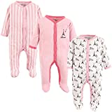 Luvable Friends Unisex Baby Cotton Sleep and Play, Paris, 0-3 Months