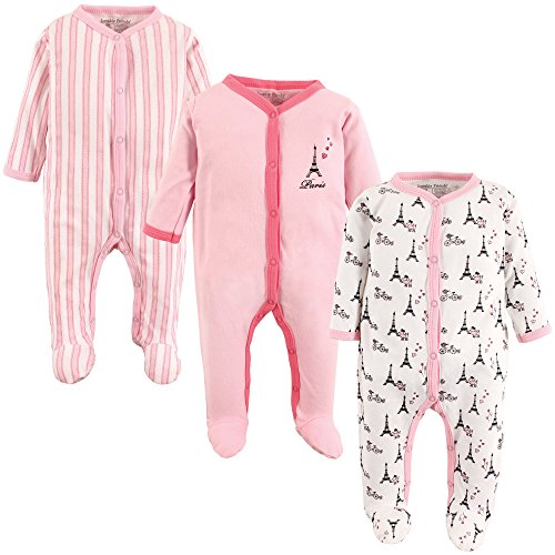 Luvable Friends Baby Cotton Sleep and Play, Paris, 0-3 Months