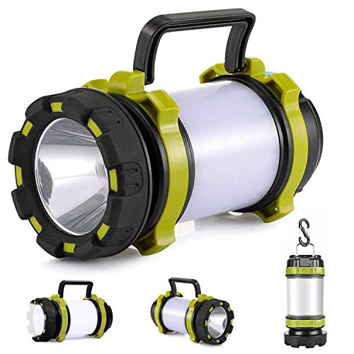 lasesasies Camping Lantern,USB Rechargeable LED Camping Lumière Dimmable IP65 Étanche Multifonction Camping...