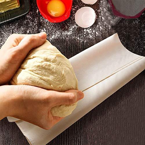 SHARRA Paño de Masa de Lino de Panadero, paño de fermentación Profesional, paño de Lino para fermentación de Pan, paño de Lino para Hornear, paño de Masa, preparación de Alimentos y Filtro