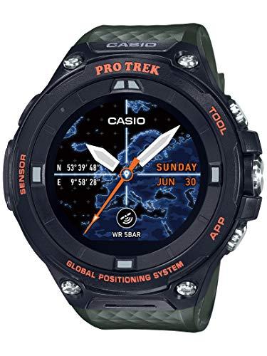 Casio Men's PRO Trek Stainless Steel Quartz Watch with Resin Strap, Green, 25.2 (Model: WSD-F20A-GNBAU)