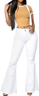 سروال جينز نسائي ضيق بخصر عالٍ من قماش الدنيم بخصر عالٍ من VEZAD سروال ضيق قابل للمط سروال جينز