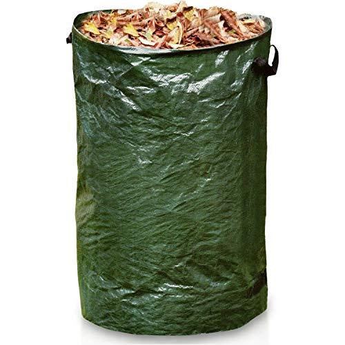 Gartensack 120L   Laubsack selbststehend groß & stabil   Gartenabfallsack Abfallsäcke für Gartenabfälle Grünschnitt Biomüll Laub Rasen Pflanzen ideal für den Garten Strebergarten Haushalt uvm