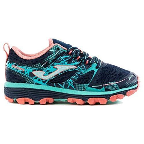 Joma Sima Jr 2033 Navy-Turquoise. Zapatilla Trail-Running niña. Talla 35