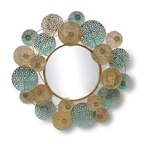 SGSG Espejo de Pared Colgante D & Eacute; Cor Celebration Metal Espejo de Pared, Espejo Decorativo Redondo para Sala de Estar y Oficina