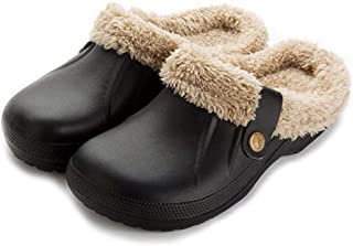 Aganmi Men Home Clogs Shoes House Slippers Cotton Anti-Slip Indoor & Outdoor Winter Couple Shoes