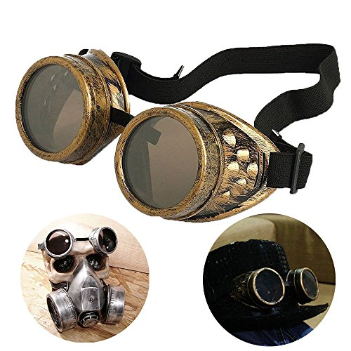 T&B Vintage Steampunk Goggles Glasses New Sell Cyber Punk Gothic-Copper Halloween Face Mask