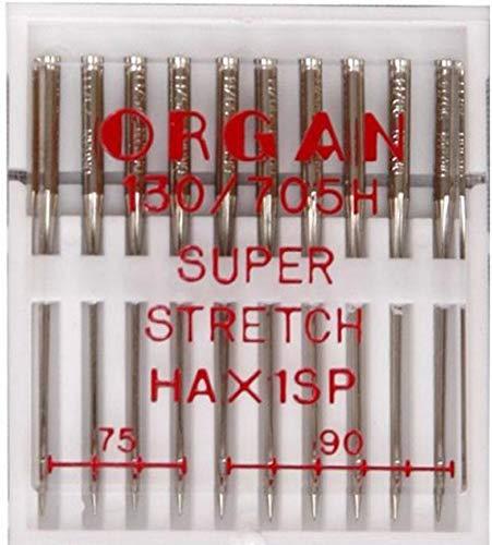 Organ 10 Super Stretch Nähmaschinennadeln 75-90 HAxSP