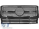 Kitt Fgmbw463amgb 90–12Grille frontale AMG Motif Grill en maille filet Noir Grill