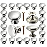 Cabinet Knobs 30 Pack, POZEAN Brushed Nickel Cabinet Knobs Silver with Screws for Dresser Drawer Cabinet Cupboard, Perfect Kitchen Cabinet Hardware for Your Home, Kitchen, Bathroom, Bedroom