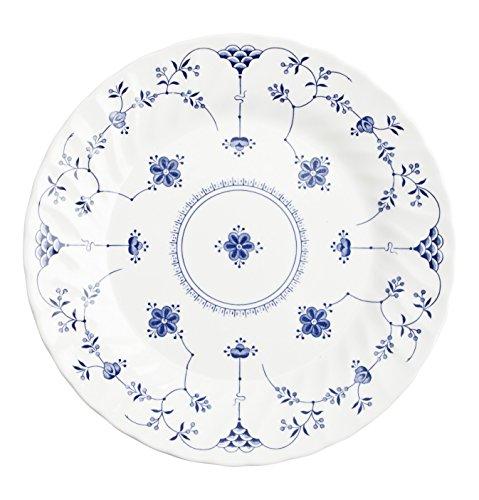 Churchill Vajilla 18 Piezas Finlandia Churchil, Loza Inglesa, Blanco y Azul, 14.08...
