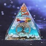 ABCBCA 7 Chakra Cristal pirámide de Resina decoración Creatividad pirámide (Size : 6cm)