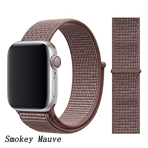 DFGH Universal Watch band 44 mm 40 mm 42 mm 38mm nylon armband horlogeband 44/42 (Band Color : Smokey Mauve, Band Width : 42mm or 44mm)