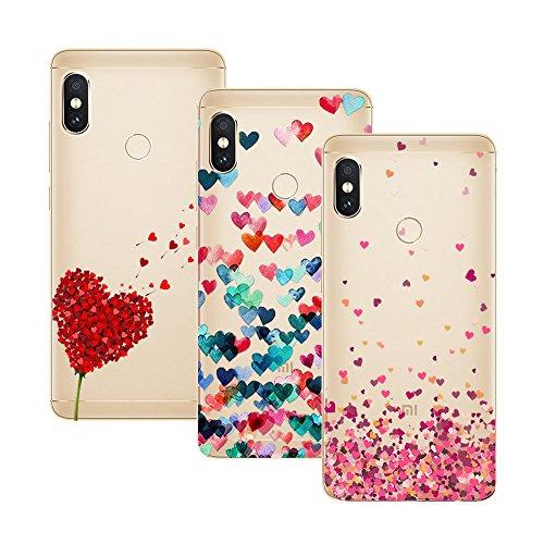 """Young & Ming Xiaomi Redmi Note 5 Funda, [3 Pack] Carcasa Transparente Slilicona Suave TPU Gel Enjaca Xiaomi Redmi Note 5 5,99"""", Color 1"""
