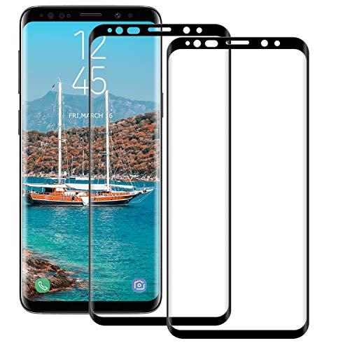 BOBI Protection d'Écran pour Samsung Galaxy S8 Plus Couverture Complèt, [2 Pièces] 9H Dureté Film de Verre Trempé Anti-Rayures sans Bulles