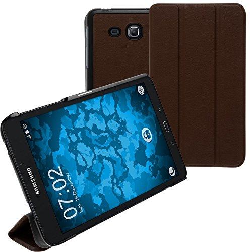 Preisvergleich Produktbild PhoneNatic Kunst-Lederhülle kompatibel mit Samsung Galaxy Tab A 7.0 2016 (T280) - Tri-Fold braun + 2 Schutzfolien