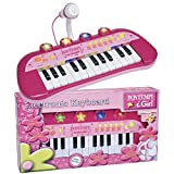Bontempi 0683002 24 Keyboard+mikr. rs, rosa