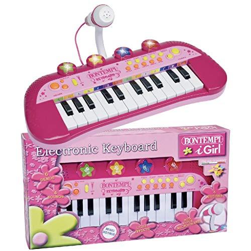 Bontempi 0683002 24 Keyboard+mikr. rs, rosa